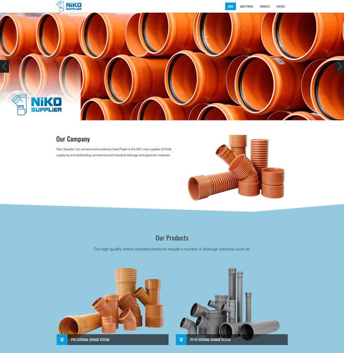 Responsywna strona internetowa dystrybutora Niko Supplier w nowoczesnej technologii i atrakcyjnym projekcie.